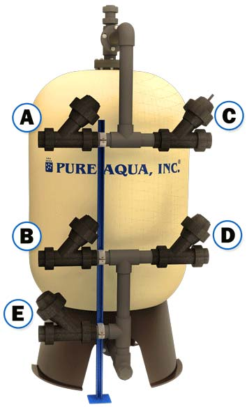 Water media filter (automatic) diaphragm valves